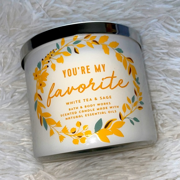 """Bath & Body works candle """"You're my favorite"""""""